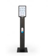 TTS Стойка за дозатор за дезинфектант и отделение за ръкавици и информационно табло