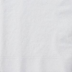 Персонализирани салфетки за маса, целулоза, 2 пласта, 33х33 см, БЕЛИ, 2340 бр.