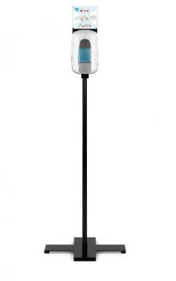 TTS Кръстата стойка с дозатор с бутон за дезинфектант