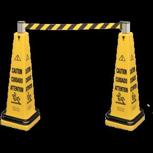 Подвижна бариера Caution