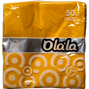 """Салфетки за маса """"O'La La Prestige"""" жълти, червени, тъмно сини"""