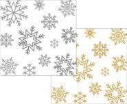 Коледни салфетки, бели със снежинки, Airlaid, 20 х 20 см, 1 пл., 300 бр.
