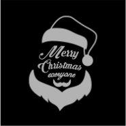 Коледни салфетки, черни, Дядо Коледа, Airlaid, 20 х 20 см, 1 пл., 300 бр.