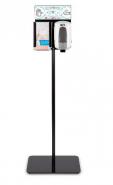 TTS Квадратна стойка с дозатор за дезинфектант и отделение за ръкавици