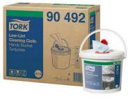 Tork Кофичка с кърпи за дезинфекция Premium Specialist Cloth Precision Cleaning Roll in Bucket – system W10