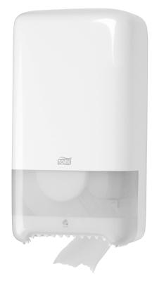 Tork Дозатор за тоалетна хартия за 2 ролки Dispenser Toilet Paper Compact Roll Auto Shift – system T6