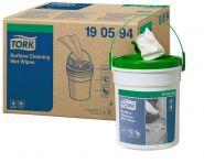 Tork Кофичка с мокри кърпи за почистване Premium Wet Wipe Surface Cleaning – system W14