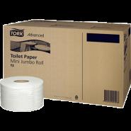 Tork Тоалетна хартия на ролка Advanced Toilet Mini Jumbo Roll – system T2