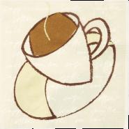 Салфетки за маса ароматизирани Tork Vanilla Café, 33 х 33 см